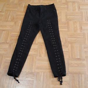 Fashion Nova Lace-up Skinny Jeans